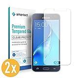 smartect Pellicola in Vetro Temperato per Samsung Galaxy J3 2016 [2 Pezzi] - Pellicola Protettiva con durezza 9H - Salvaschermo Anti-Impronte e Anti-Bolle