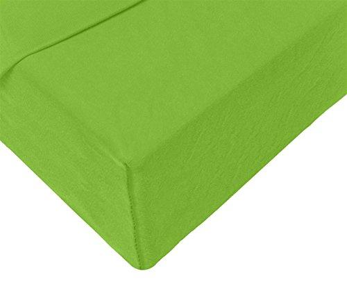 Double Jersey - Spannbettlaken 100% Baumwolle Jersey-Stretch bettlaken, Ultra Weich und Bügelfrei mit bis zu 30cm Stehghöhe, 160x200x30 Lime - 4