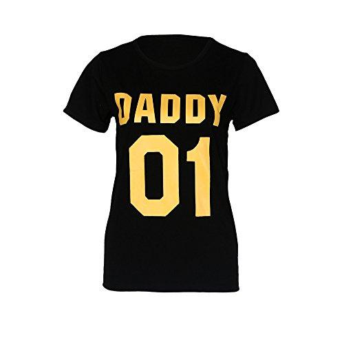 irt für Familie, Kid 03/Mommy 02/Daddy 01 Kurzarm Letter Print Kids Kleider Baby Boys Girls T Shirt Outfits (S, Daddy) ()