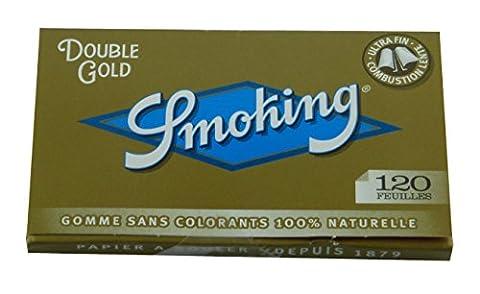 6 cahiers de 120 feuilles à rouler regular SMOKING Double Gold Hyper Fin