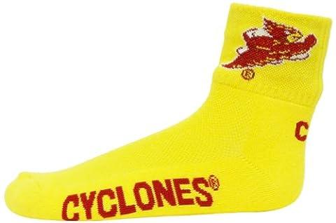 NCAA Iowa State Cyclones Men's Quarter Socks, Gold/Maroon