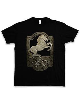 Urban Backwoods Prancing Pony T-Shirt – Albergo alloggio Il Signore Locanda Lord Of The Des Degli Anelli Pony...
