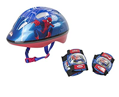 Marvel Kinder OSPI204 D'arpeje Spiderman Safety Set Helmet 2 Pad deep Blue S