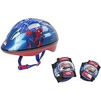 Spiderman - Set De Protections (Casque : 48-52 cm + Coudières + Genouillères) - OSPI204