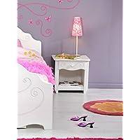 Nachttisch Anne 47x45x34 cm weiß lackiert Nachtkommode Kinderzimmer Nachtschrank Nako preisvergleich bei kinderzimmerdekopreise.eu