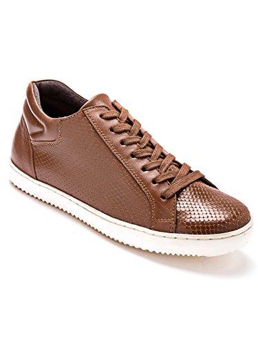Balsamik - Sneakers con zeppa in pelle larghezza comfort - - Size : 39 - Colour : Marrone