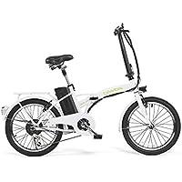 Bicicleta ELECTRICA Plegable Mod. Book BATERIA Ion Litio 36V10AH (Blanco)