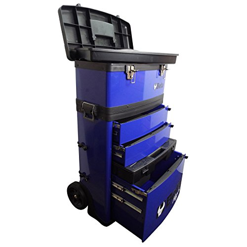 Beta Trolley mit 2 Stapelbaren Modulen, blau
