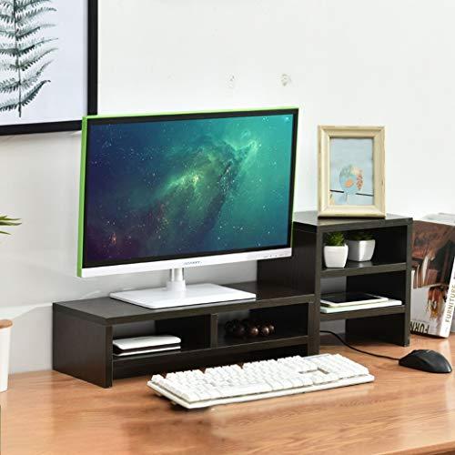 Speicher-rack-ständer (KKCD Multimedia-Desktop-Ständer Büro-Desktop-Computer-Riser-Ständer Desktop-Speicher-Rack-Auflage Hohe Bildschirm-Regalanzeige (Farbe : B))