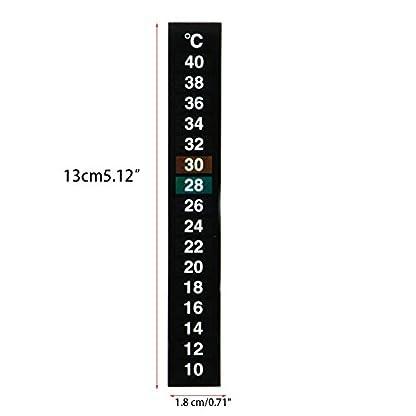 Dairyshop 1/5/10pcs Aquarium Stick-On Thermometer, Fish Tank Digital Temperature Sticker (10pcs) 4
