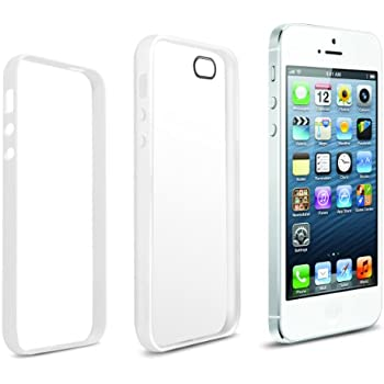Anker® iPhone 5S 5 Case for Apple iPhone 5 5S - Ultra Slim Fit 0.9mm with 2-in-1 Combo Protection of most Durable Case Materials: Flexible Matte TPU Body & Protective PC Frame - Retail Packaging - Frosted Translucent White