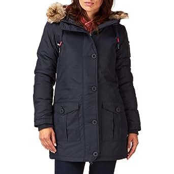 Bench Greenland Zipped Women's Coat Dark Navy Blue Small