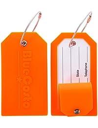 BlueCosto Silicone Etiquettes Bagages Etiquette Voyage Valise Baggages étiquettes à Bagage - 5 Couleurs