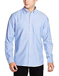 GAP Mens Casual Shirt (140713200028_17824144701_Medium_Imperial Blue)