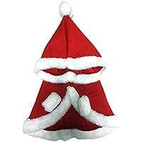 BESTOYARD Capa con Capucha de Navidad Rojo para Disfraz Traje de Perro Gato Mascota de Ropa Abrigo Chaqueta y Sudadera de Invierno (S/M=80g)