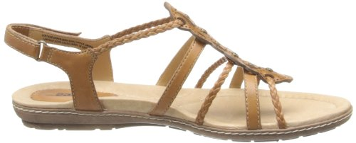 Earth Bluff Cuir Sandales Sand Brown