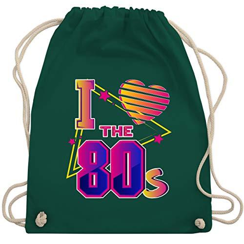 ve the 80s bunt - Unisize - Dunkelgrün - WM110 - Turnbeutel & Gym Bag ()