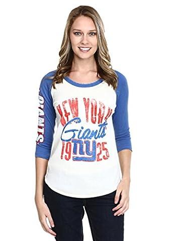Junk Food Womens Women's New York Giants All American Raglan