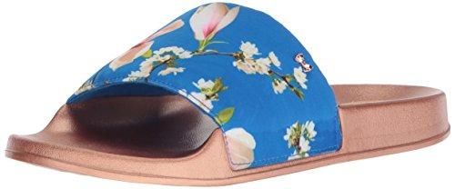 Ted Baker Women's Aveline Slide Sandal, Blue Harmony, 8 Medium US Ted Baker Womens Wear