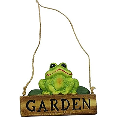Garden Sign with Frog