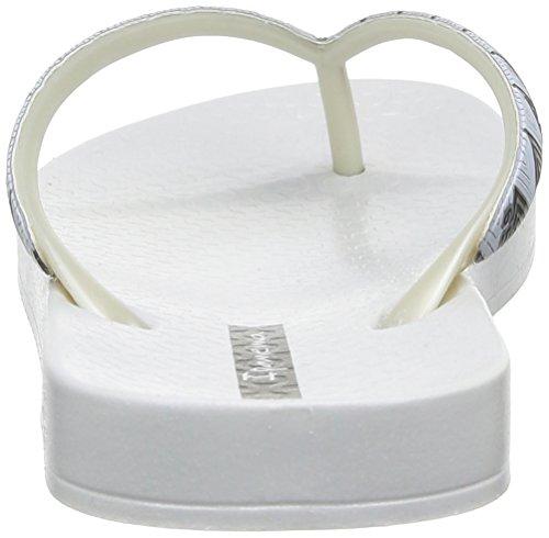 Ipanema - Metallic III, Infradito Donna Bianco (Blanc (21987 White/White))