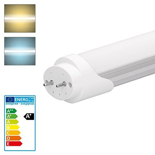 ECD Germany Leuchtstoffröhre 150 cm - 24W 240V T8 G13 SMD LED Leiste kaltweiß 2018 Lumen - keine Anlaufzeit und drehbare Rohrenden - für Küche und Bad