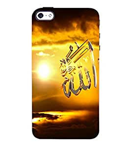 Fuson 3D Printed Lord Allah Designer Back Case Cover for Apple iPhone 4S - D550