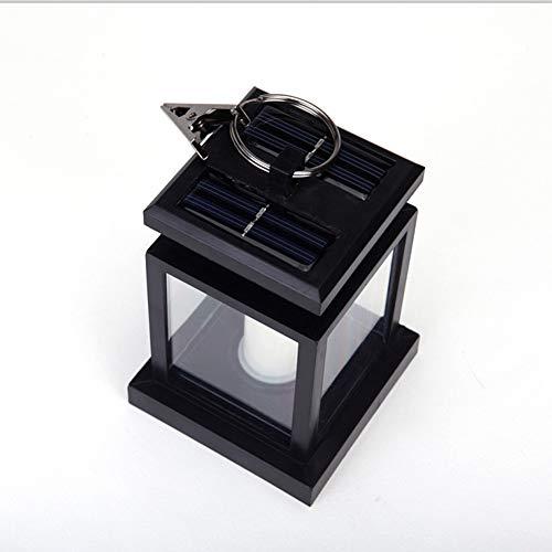 Lsgepavilion Kerzen-Design LED Solar Gartenleuchte Flammenlose Outdoor Hängelampe, ABS, 1#, Einheitsgröße