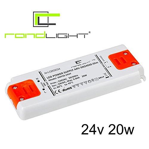 Preisvergleich Produktbild Netzgerät Trafo Netzteil SN-24020-Slim 24V 0.83A 20W für led streifen strip band