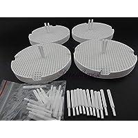 Portal Cool Bandejas de cocción del panal dental 4pcs con 40 materiales del laboratorio dental de los pernos de la circona