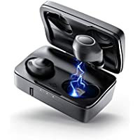 ENACFIRE Bluetooth 5.0 Wireless Headphones, Future Plus Bluetooth Headphones 104H Playtime Stable Connection HiFi Sound Quality IPX8 Waterproof Wireless Earphones With Mic, 2600mAh Charging Case