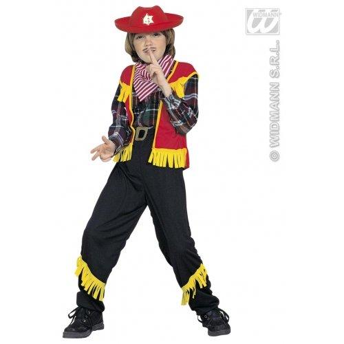 Erwachsene Gunfighter Western Für Kostüm - Kinderkostüm Cowboy 140 cm (Vest Pants Belt Bandana)