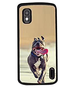 PrintVisa Scary Dog High Gloss Designer Back Case Cover for LG Google Nexus 4 E960