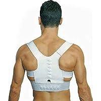 Elegante y fácil de Limpiar Hombres y Mujeres Tratamiento de Cinta de corrección Variable Espalda Soporte de Hombro Cinturón de corsé Corrector de Postura Corsé magnético de Potencia