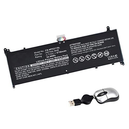 Amsahr DW02XL-05 - Batería de reemplazo para HP DW02XL, HP Envy X2 11-G030EA, HP Envy X2 11-G003TU, HP HSTNN-DB4B (Incluye Mini ratón óptico) Color Gris