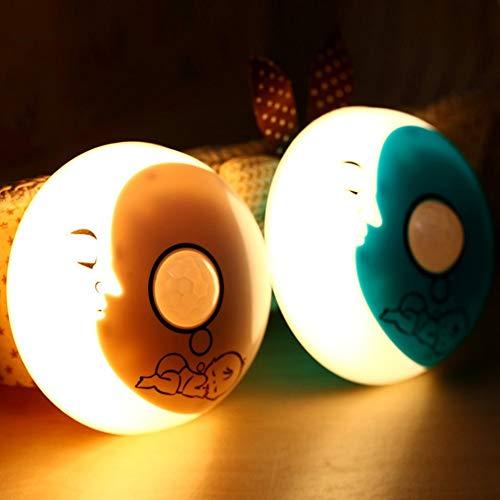 Cartoon Mond Nachtlicht Für Kinder, Kinder Kreative Motion Sensor Led Wandschrank Lampe Warmweiß Für Schlafzimmer Geburtstagsgeschenk Weihnachtsgeschenke Indoor Outdoor Home Party