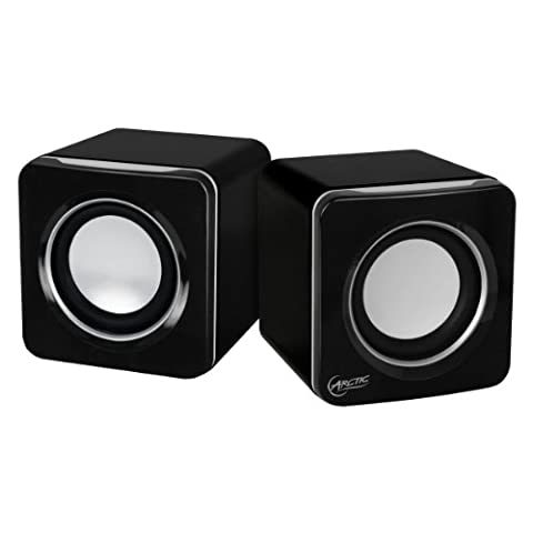ARCTIC S111 Noir - Enceintes PC Cubiques 2.0 - 2x2W