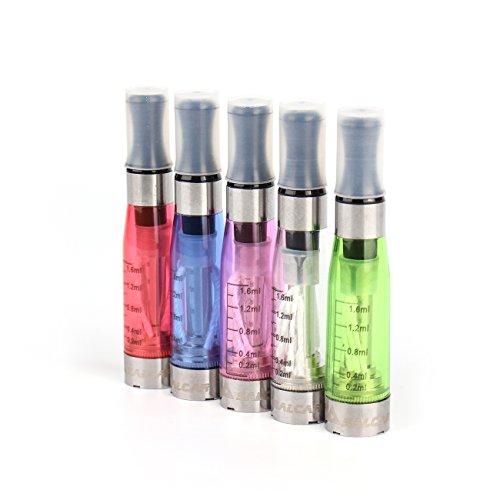 Salcar® 5x CE4 verdampfer für e-zigarette, 2,4±0,2 ohm / 1,6ml, passend für ego, ego-t, ego-c, ego-w - alle 510 gewinde akkus, 0,00mg nikotin, in verschiedener farben