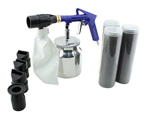 Preisvergleich Produktbild Druckluft Sandstrahlpistole Strahlpistole inkl. Strahlsand Sandstrahlgerät Sand