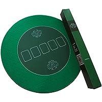 Bullets Playing Cards Runde Profi Poker Tischauflage 70cm Pokertuch – Pokerteppich – Pokermatte - Grün - Ideal als Geschenk