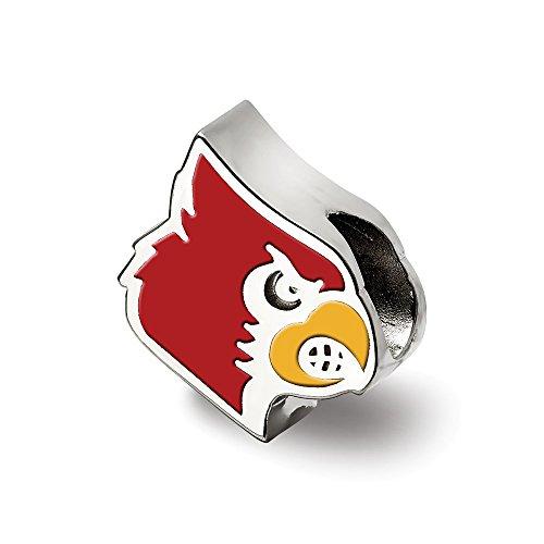 Bea aus 925er Sterlingsilber, LogoArt University of Louisville, Kardinal-Logo, emailliert, inklusive Schmuckgeschenk Louisville University