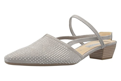 GABOR - Damen Slingback Pumps - Grau Schuhe in Übergrößen, Größe:44