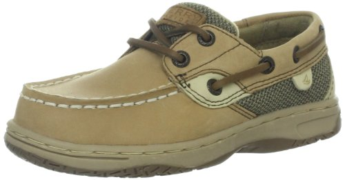 Sperry Bluefish Boat Shoe (Toddler/Little Kid/Big Kid), Linen/Oat, 8 M US Toddler (Schuhe Jungen Sperry)