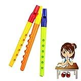 CDELEC Musik spielen Plastik Lernen frühen Bildung sechs Löcher Klarinette Kleine Spielzeug Flöte Instrument Kinder und Bildung Spielzeug Licht-emittierende Klarinette