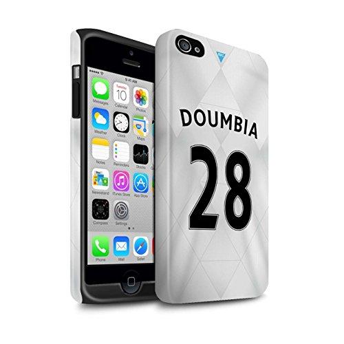 Officiel Newcastle United FC Coque / Matte Robuste Antichoc Etui pour Apple iPhone 4/4S / Pack 29pcs Design / NUFC Maillot Extérieur 15/16 Collection Doumbia