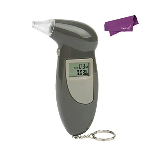 Preisvergleich Produktbild SalesLa Schwarz LCD Digital Spiritus Atem Analysator Prüfvorrichtung Detektor Breathalyzer Test