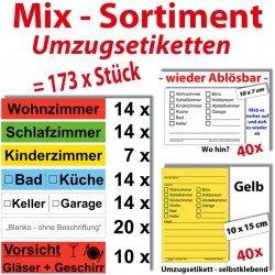 173x Umzugetiketten – Mix Set – Beschriftung mit Etiketten vom Umzugskarton bis Möbel für den Überblick beim Umzug - 5