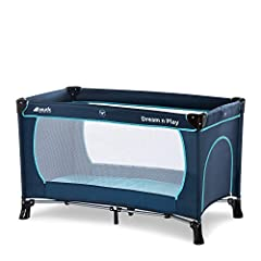 Idea Regalo - Hauck Dream N Play Plus 603666 Lettino da Viaggio 3 Pezzi 120 x 60 cm per Neonati e Bambini Fino a 15 Kg con Materasso, Borsa di Trasporto e Apertura Pieghevole Stabile Navy Aqua (Blu)