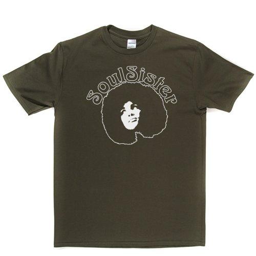 Soul Sister Funk Music Womens Girls Tee Genre T-shirt Militärgrün