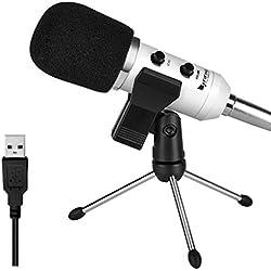 Micrófono USB, Micrófono condensador FifineTM Plug & Play